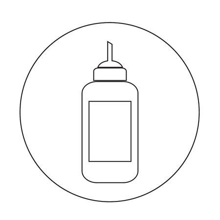 ketchup bottle: ketchup bottle icon illustration design Illustration