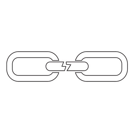 cadena rota: cadena rota icónico diseño Vectores