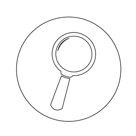 circumference: Search icon illustration design