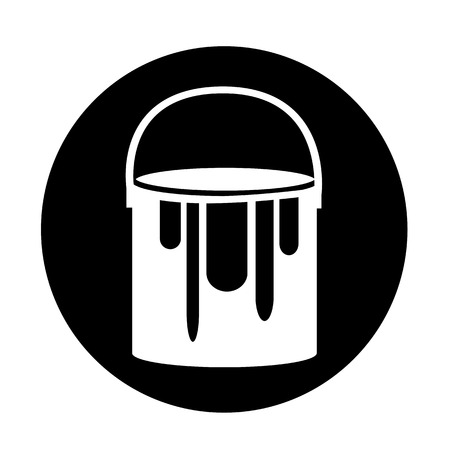 paint can: paint can icon illustration design