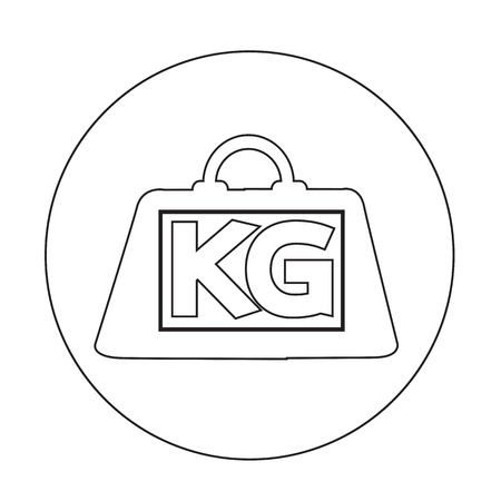weight kilogram icon illustration design Illustration