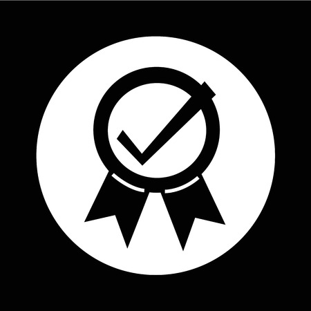 accepted label: Certified Seal Icon illustration design