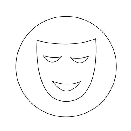 stage props: theatrical masks icon illustration design Illustration