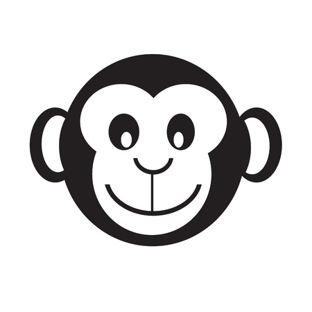 Monkey icon illustration design