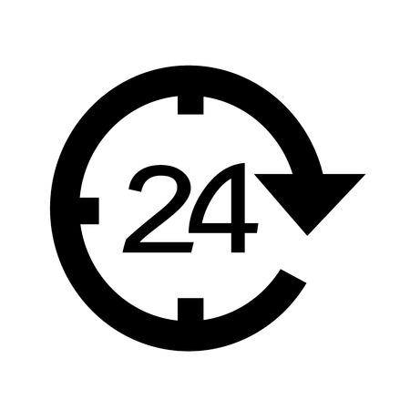 24 hour icon illustration design