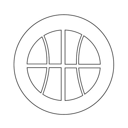 Basketball icon illustration design