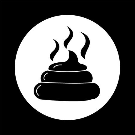 feces: Feces icon illustration design