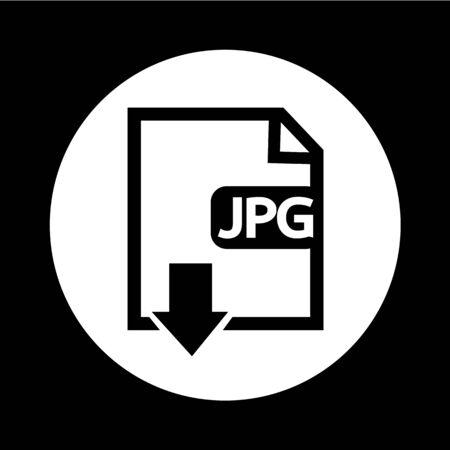 uncompressed: File type JPG icon illustration design