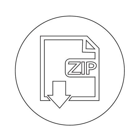 uncompressed: File type ZIP icon illustration design Illustration