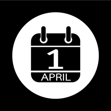 foolish: Calendar 1 April icon illustration design