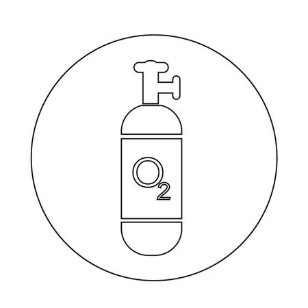 Sauerstoffbehälter icon Design