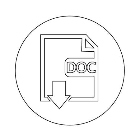 File type DOC icon illustration design