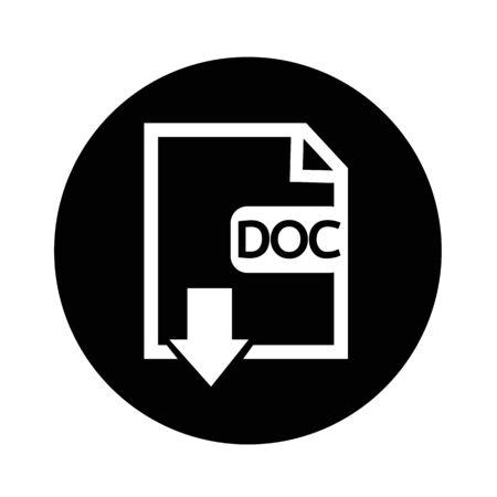 uncompressed: File type DOC icon illustration design