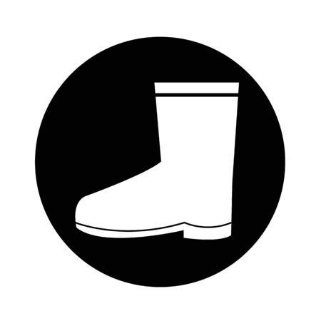Boot icon illustration design Ilustrace