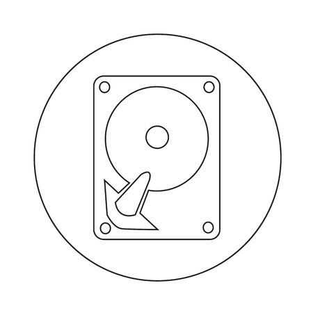 hard drive: Hard disc icon illustration design Illustration