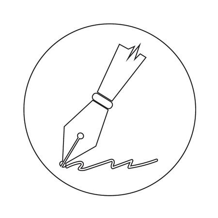 instrument panel: pen icon illustration design Illustration