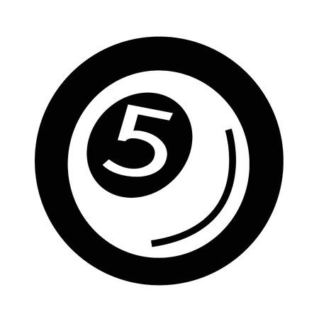 bola de billar: Piscina Icono de la pelota, ilustración, diseño