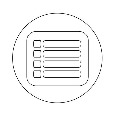 web portal: expand menu icon illustration design