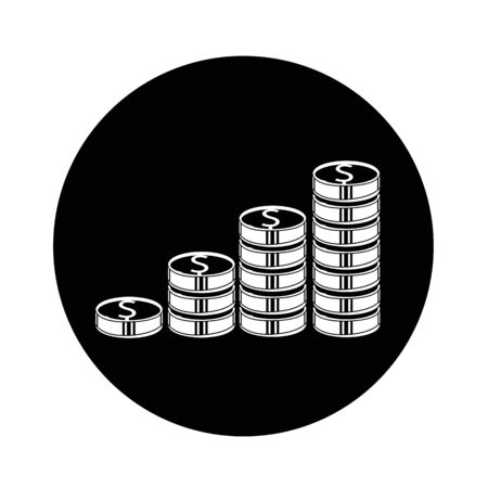 incomes: Money icon illustration design Illustration