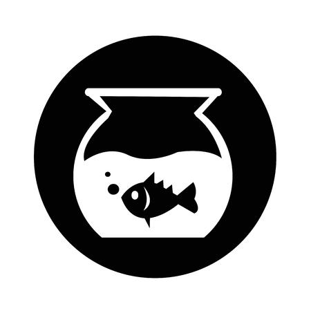 fishtank: Fish Bowl Icon illustration design Illustration