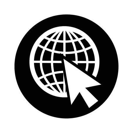 go to web icon illustration design