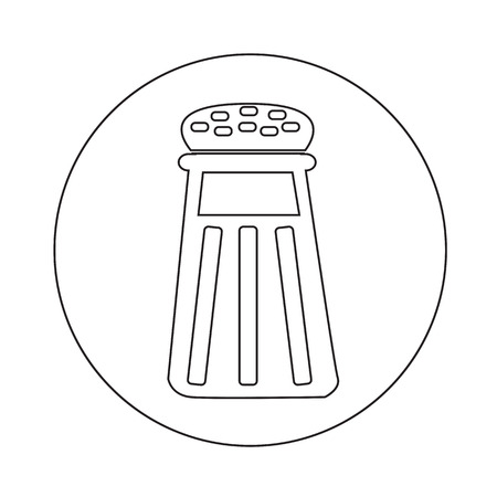 pepper grinder: pepper shaker icon illustration design