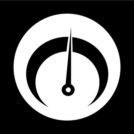 tachometer: tachometer icon illustration design Illustration