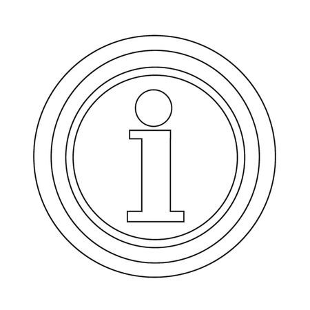 inform information: Information icon illustration design Illustration