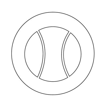 tennisball: Tennis Ball Icon illustration design