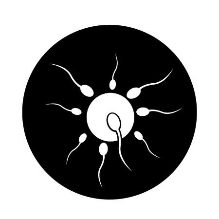 Célula de esperma humano icono ilustración diseño Vectores