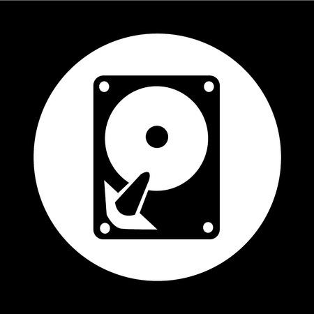 storage compartment: Hard disc icon illustration design Illustration