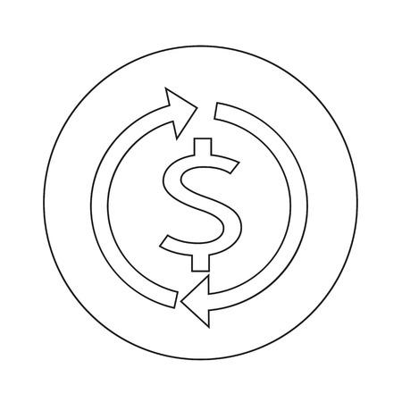 rate of return: Money dollar sign icon illustration design Illustration