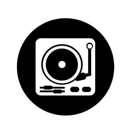 turntable: turntable icon illustration design
