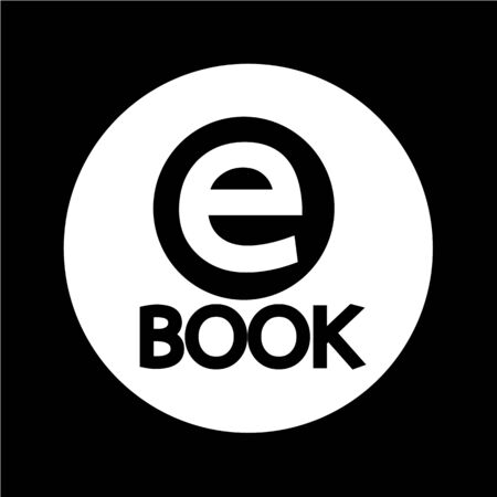 encyclopedia: E-Book icon illustration design