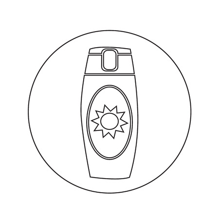 sun cream: Sun Cream Icon illustration design