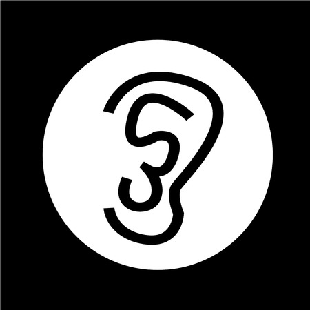perception: ear icon illustration design
