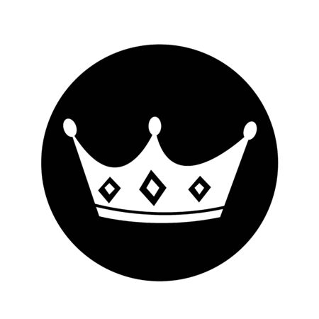 royal person: crown icon illustration design