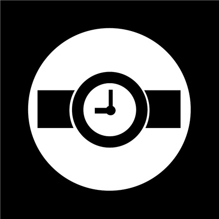 wrists: Wristwatch Icon illustration design