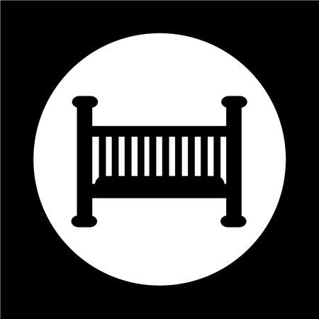 baby crib: Baby crib icon Illustration