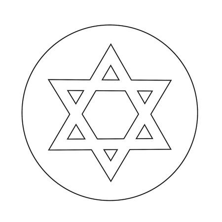 estrella de david: Icono de la estrella de David
