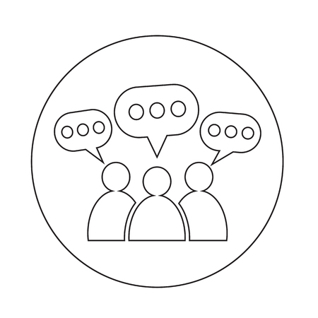speech icon: People Speech Bubble Icon Illustration