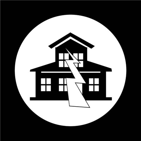 earthquake: Earthquake Symbol icon Illustration