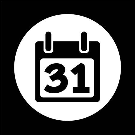 Icono del calendario Ilustración de vector