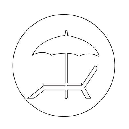 reclining: beach chair icon