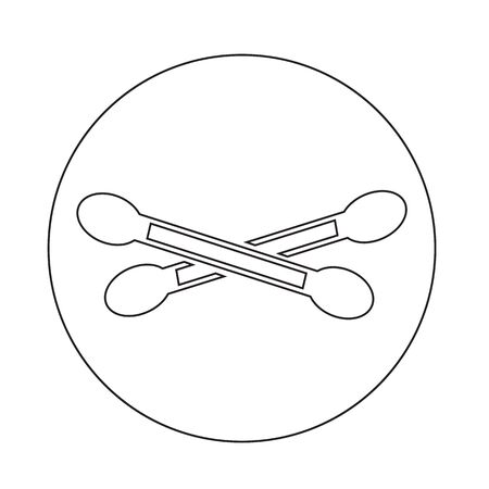 swab: Cotton swab icon Illustration