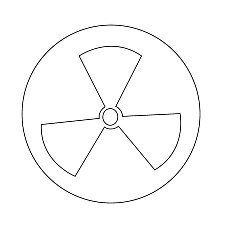 radiactividad: Radioactivity sign icon