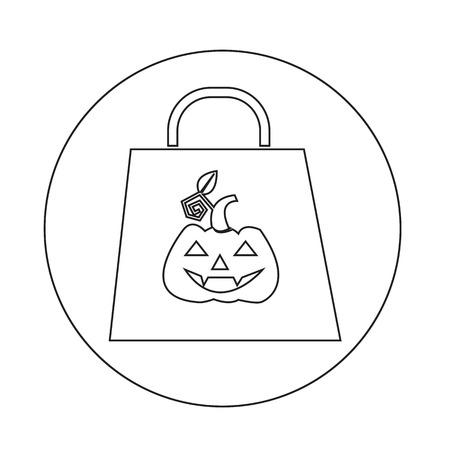 cucurbit: Halloween pumpkin icon Illustration