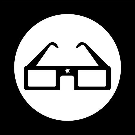 stereoscope: 3D cinema glasses Illustration
