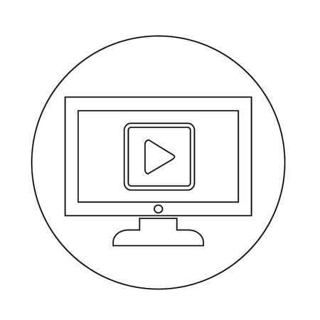 Icône de TV Banque d'images - 70662903