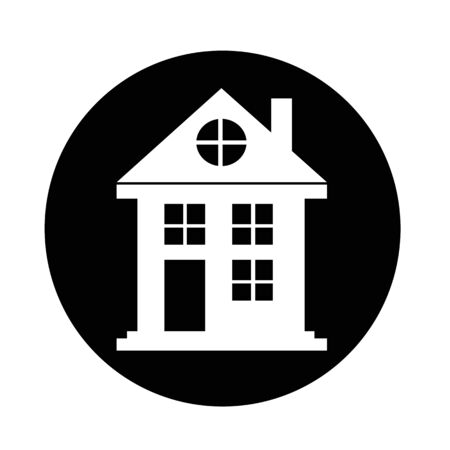 rural development: Real estate house icon Illustration
